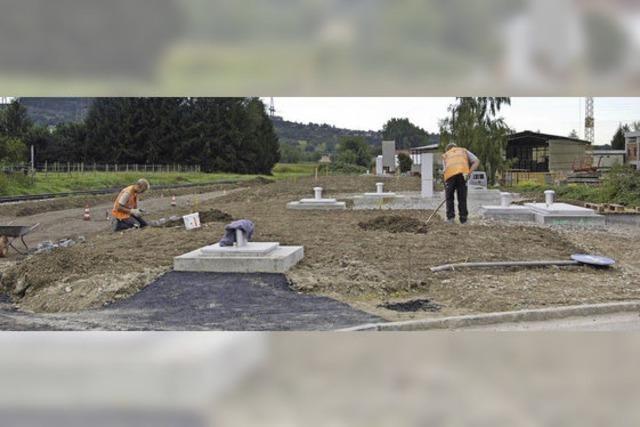 Noch zwei Regenbecken sind zu bauen