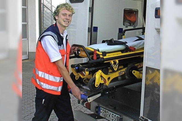 Ausbildungsberuf Rettungsassistent: Felix Greve will ganz nah bei den Menschen sein