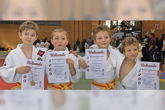 Goldener Jahresabschluss der Judoka