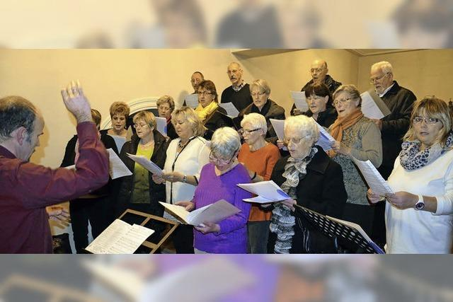 Gemeinsam Singen gehört zum Advent