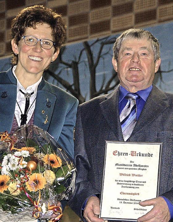 Die Geehrten Gabi Kuder und Wilfried Winkler   | Foto: Petra Wunderle