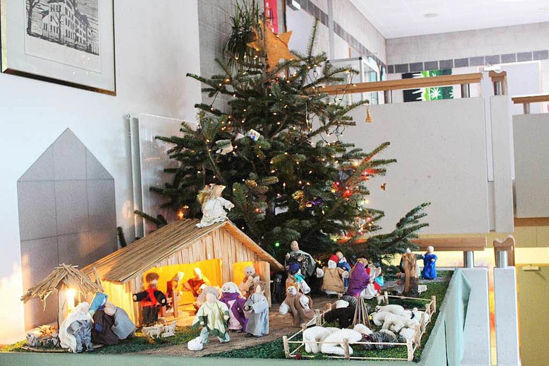 An der Friedrich-Ebert-Schule hat der ...n Kombination mit der Krippe Tradition    Foto: Anja Bertsch