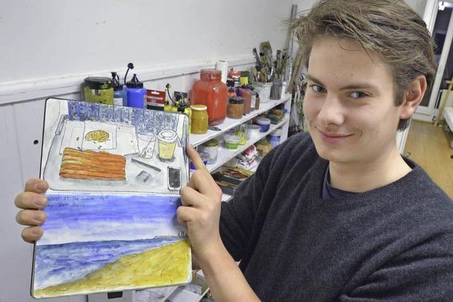 Philippe Derlien ist Preisträger des Freiburger Jugendkunstpreises