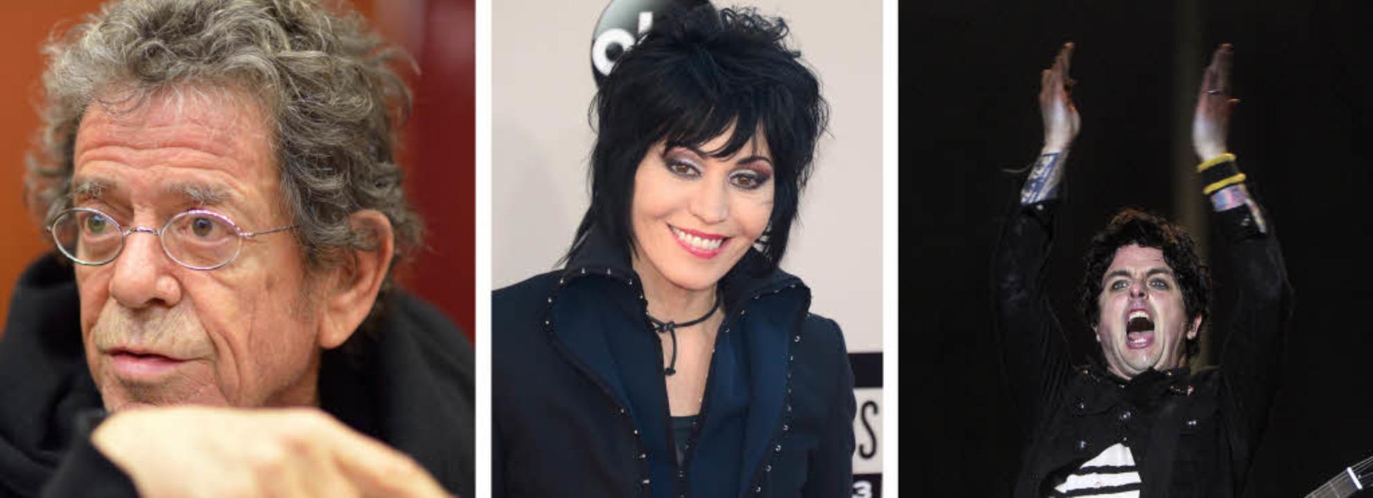Lou Reed, Joan Jett und Billie Joe Arm...' Roll-Hall of Fame aufgenommen.  | Foto: AFP