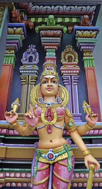 Eine Statue aus dem  Hindu-Tempel in Basel     Foto: Gramespacher