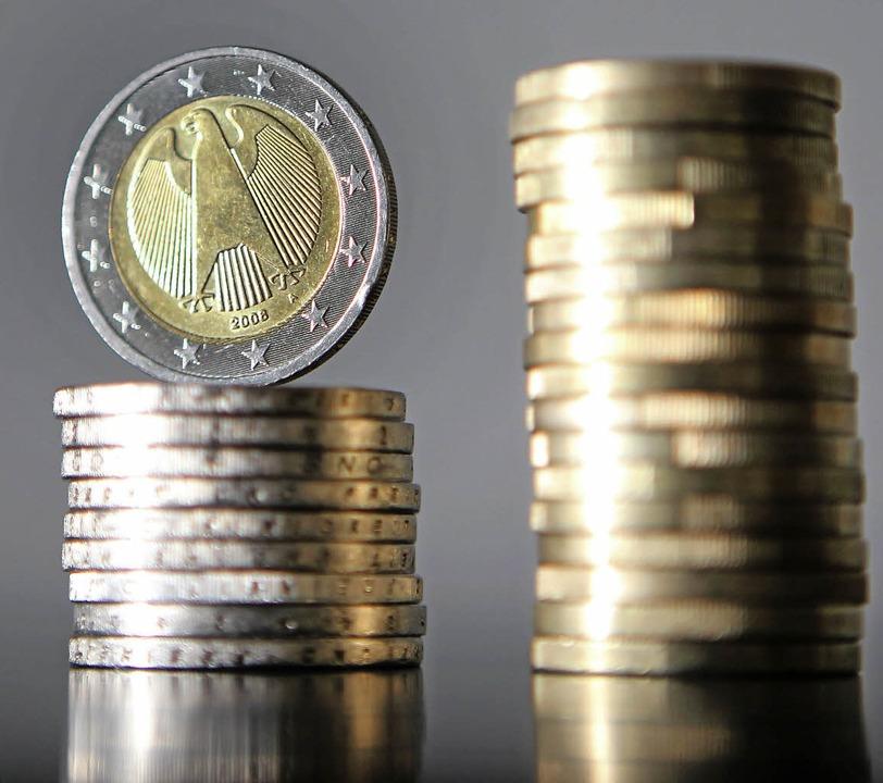 Die Sasbacher Rücklagen schrumpfen. Das Geld wird für Investitionen benötigt.  | Foto: DPA