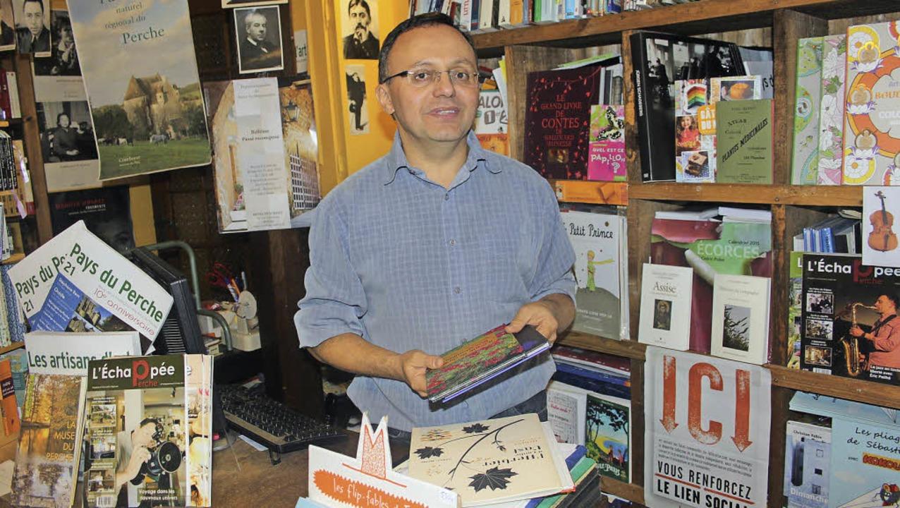 Die Buchhandlung von Franck Kleczewski erfreut sich großer Beliebtheit.  | Foto: Jutta Binner-Schwarz