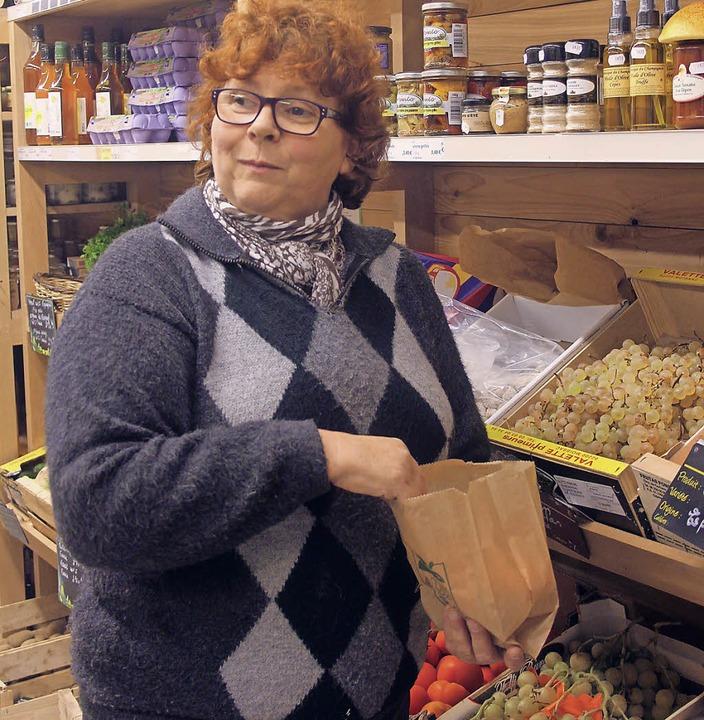 Sylvie Magnilier hat ihr Lebensmittelg...latz täglich außer mittwochs geöffnet.  | Foto: Jutta Binner-Schwarz