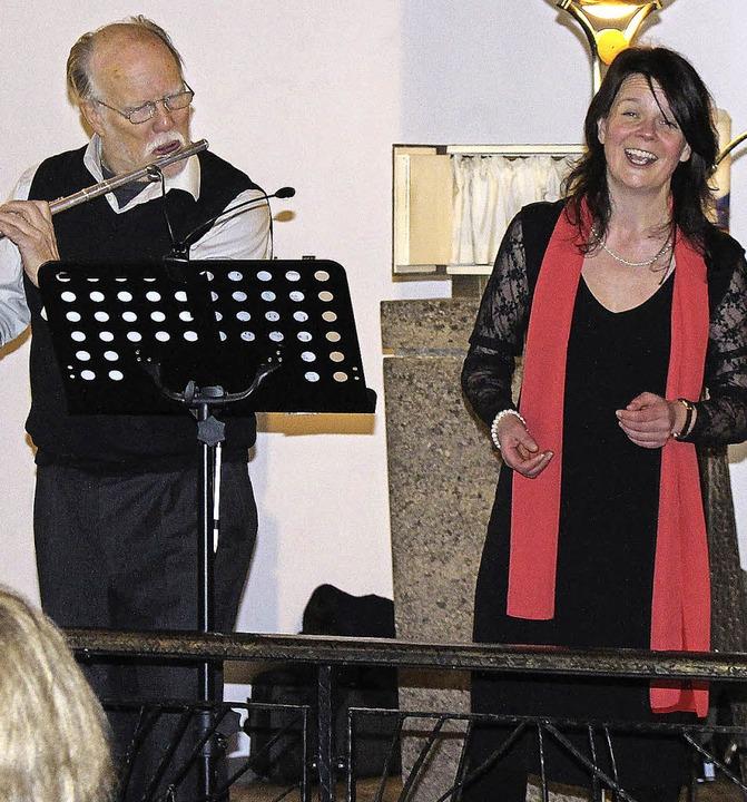 Die Sopranistin Christina Schneider, b... ihrer klaren, facettenreichen Stimme.  | Foto: Johannes Schanz