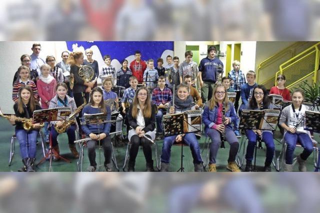 Die Nachwuchsmusiker zeigten, was sie können