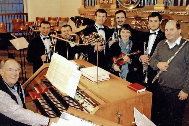 Brass-Quintett Kiew Academy und Solisten spielen in der Bonifatiuskirche zugunsten BZ-Weihnachtsaktion