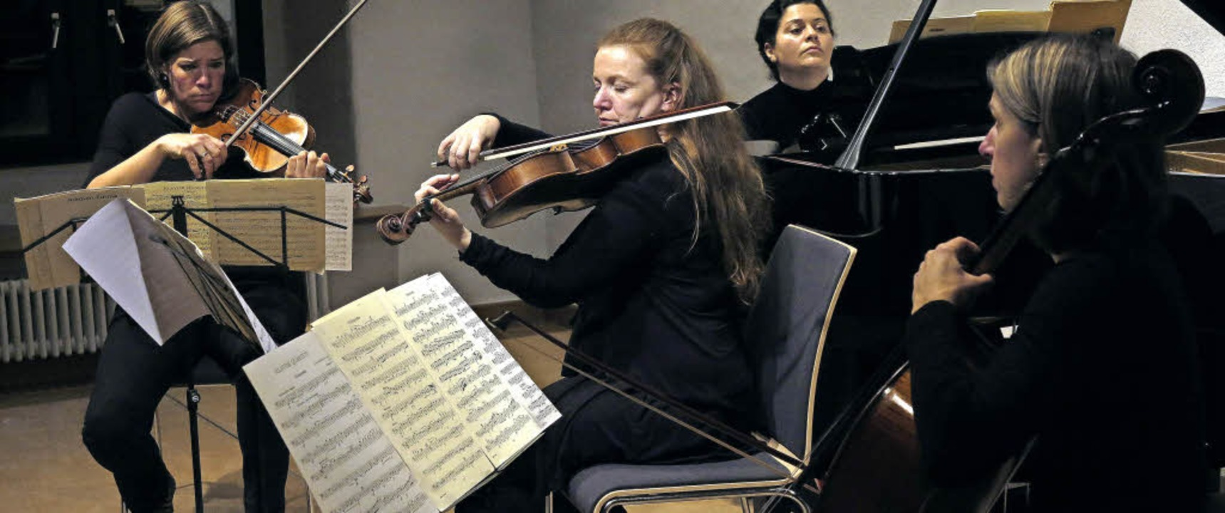 Das Janus-Ensemble und die Pianistin Karina Cveigoren  | Foto: D.Philipp