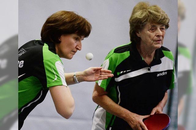 Heidi Isele und Inge Volk sind das drittbeste Doppel