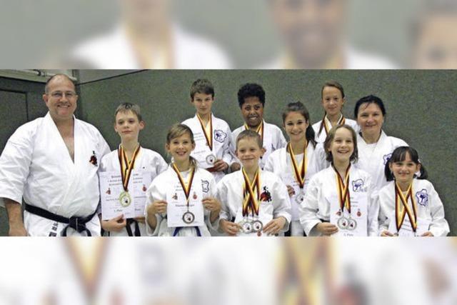 Wiesentäler Karateka sind mit neun Titeln dabei
