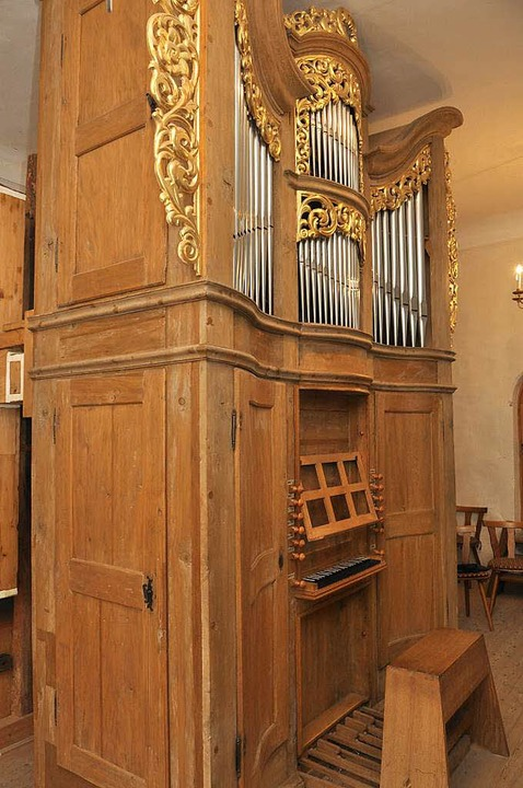 Die aufwendig restaurierte Pottier-Org...ealskirche in Vogtsburg-Niederrotweil.  | Foto: Kai Kricheldorff