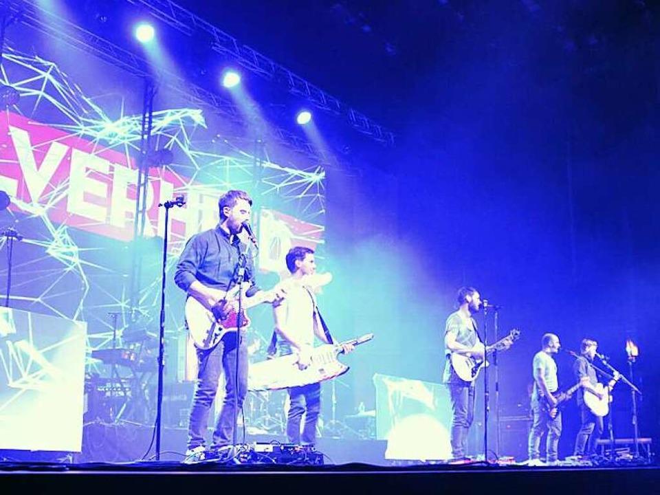 Revolverheld bei ihrem Auftritt in Offenburg  | Foto: Lisa Geppert