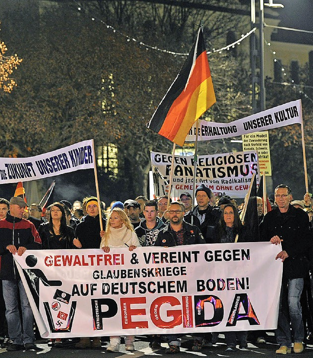 Pegida-Demonstration in Dresden   | Foto: dpa