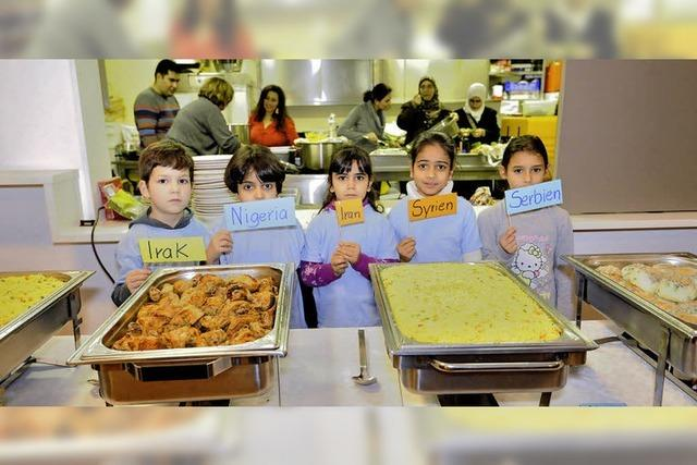 Die Speisen weisen auf die Vielfalt hin
