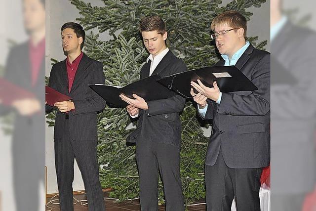 Drei junge Sänger in Bestform