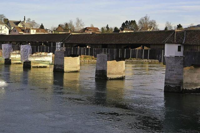Sanierung der Holzbrücke liegt im Zeitplan
