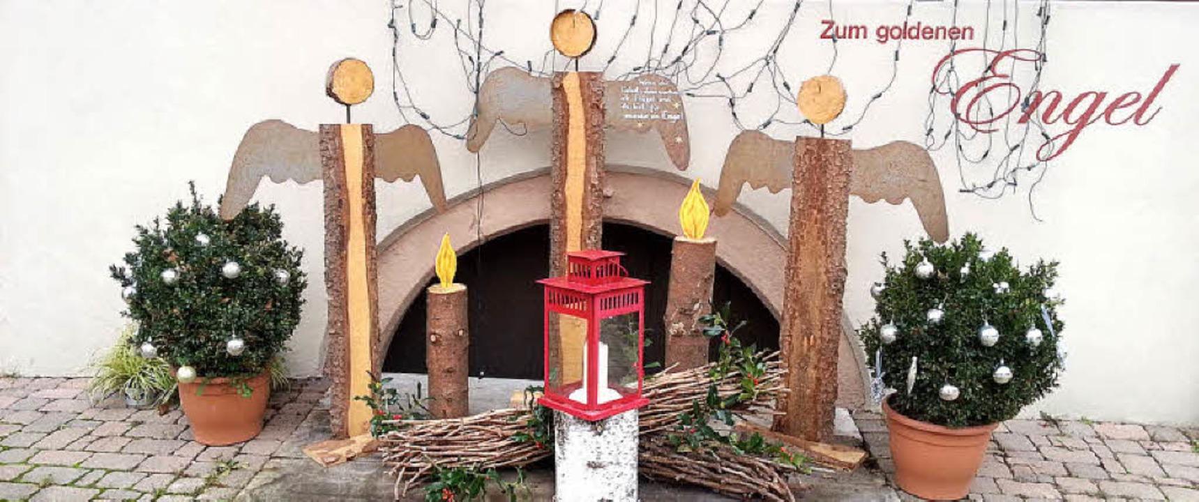 Auch das Glottertäler Gasthaus zum Goldenen Engel hat  Schutzengel.  | Foto: Otto Binder