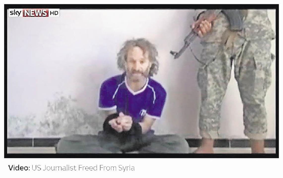 Gefangen, gefoltert, mit dem Tode bedr...Padnos während seiner Zeit als Geisel   | Foto: screenshot: bz