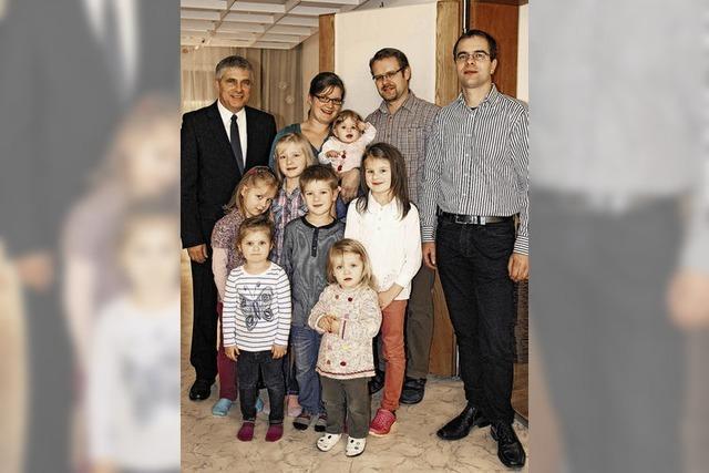 Immer was los mit sieben Kindern