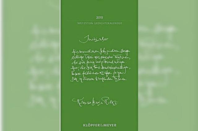 KALENDER: Mit der Hand geschrieben