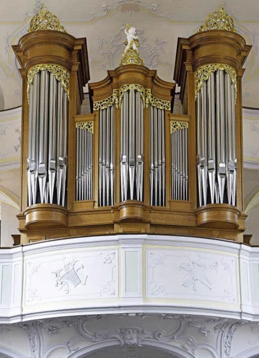 Jäger-und-Brommer-Orgel in Merdingen  | Foto: Kathrin Blum