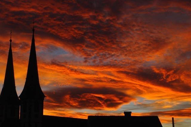 Ein wundervoller Sonnenuntergang über Kenzingen