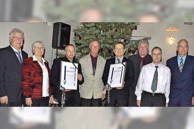 Firma Fischer ehrt langjährige Mitarbeiter