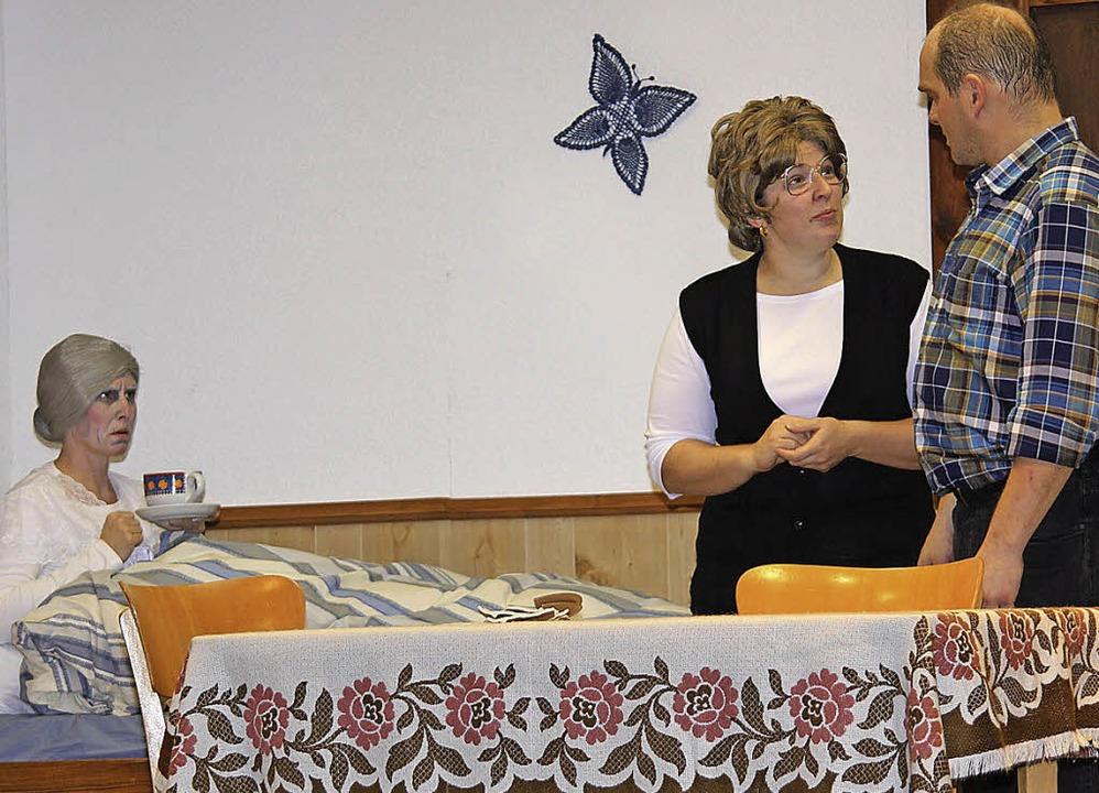 "Anja Müller, Manuela Tritschler und Fr...l ""S'listige Ahndl"".    Foto: Gert Brichta"