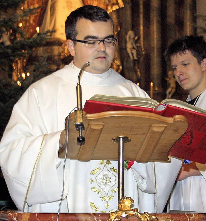 Feierliche Christmette in der Todtmoos...fahrtskirche mit  Pauliner-Pater Paul   | Foto: Andreas Böhm