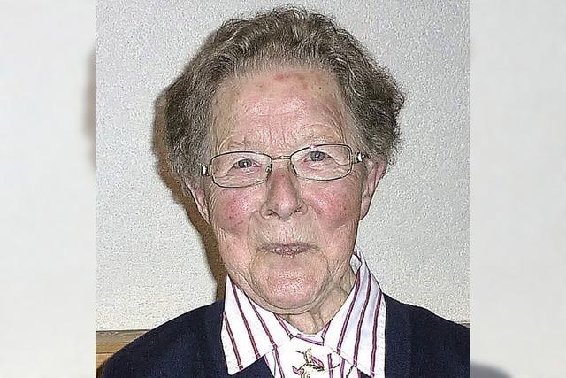 Anna-Maria Baer wurde 90