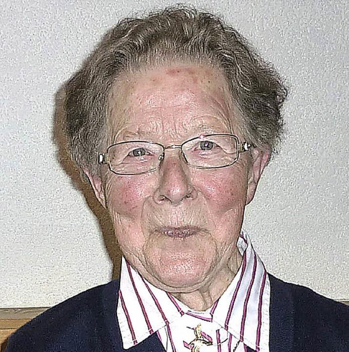 Gut gelaunt: Anna-Marie Baer wurde 90 Jahre alt.     Foto: Karlernst Lauffer
