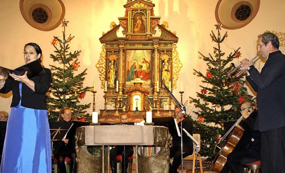 """Unter dem Motto """"Sternstunden in...eihnachtskonzert in der Ibacher Kirche    Foto: Karin Stöckl-Steinebrunner"""