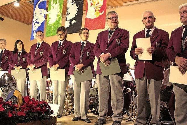 Zusammen seit 105 Jahren im Musikverein Öflingen