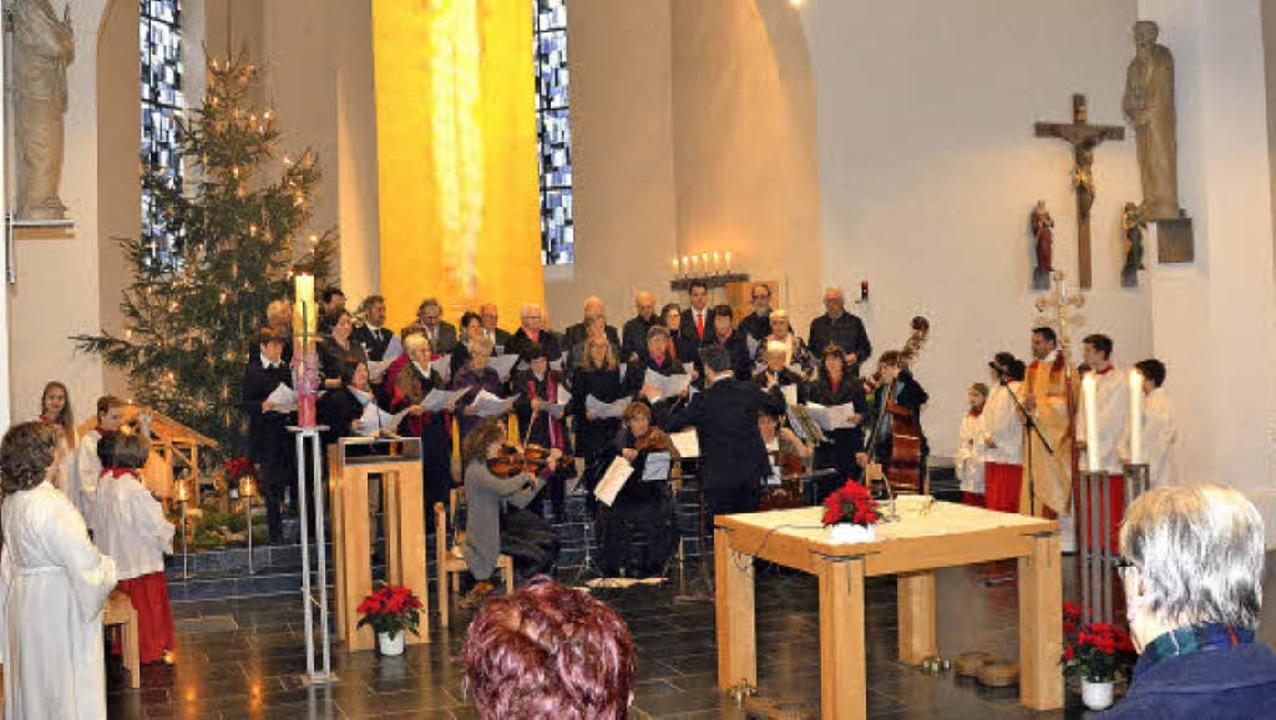 An den Weihnachtsfeiertagen wurde in v...g in St. Peter und Paul in Inzlingen.   | Foto: Nikolaus Trenz