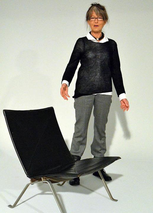 Die Architektin Barbara Wilhelm mit dem  PK22    | Foto: FILLISCH