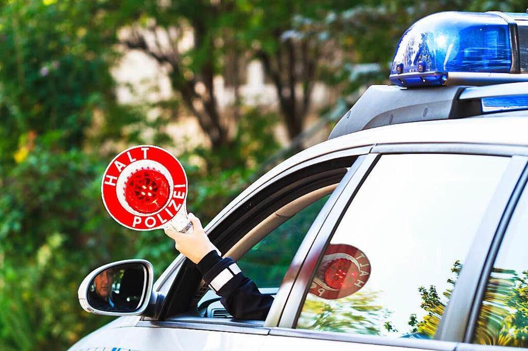 Polizeikontrolle.  | Foto: Dominic Rock