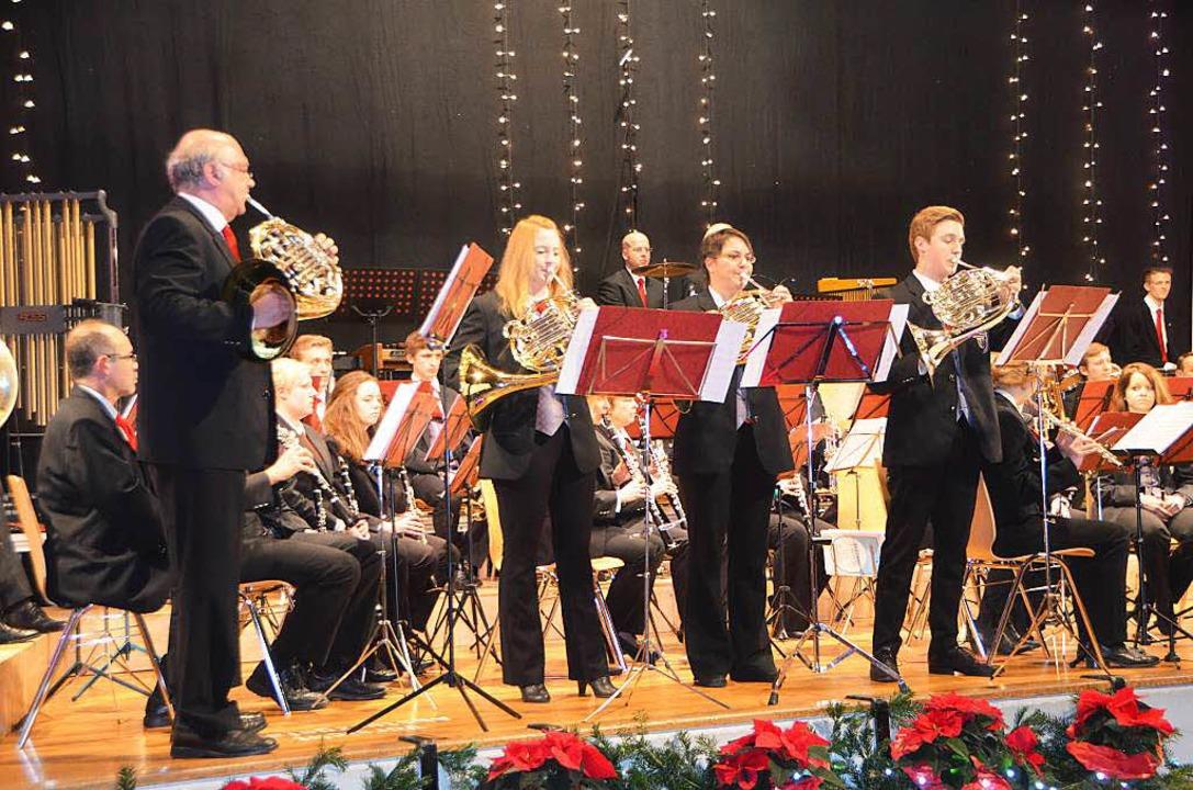 Die Hörnergruppe: Thomas Münch, Larissa Frey, Eva-Maria Siegmund, Josua Rinklin  | Foto: Sylvia-Karina Jahn