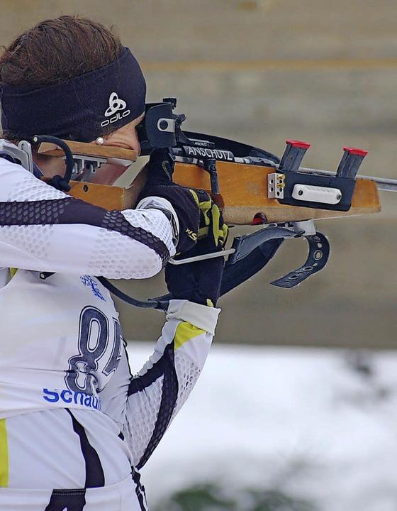 Treffsicher: Biathletin Christin Maier vom SC Urach  | Foto: junkel
