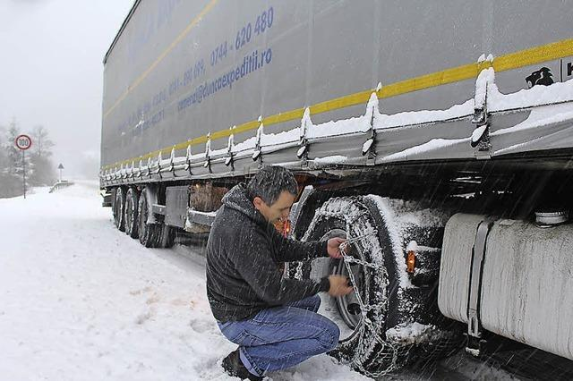 Schnee sorgt für Unfälle