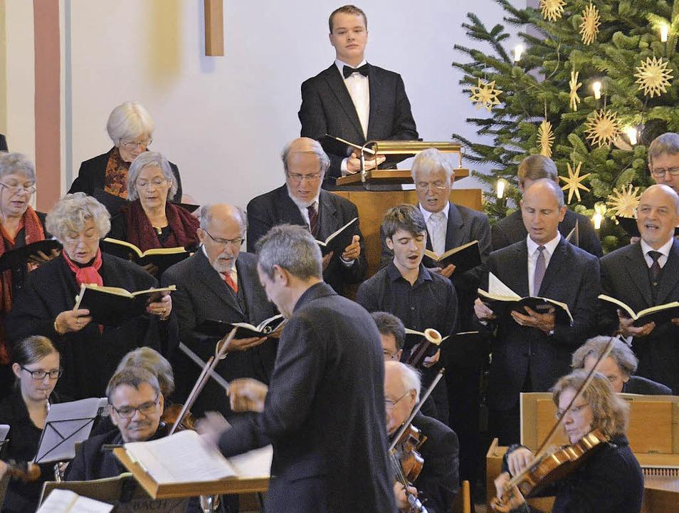 Kantatengottesdienst am zweiten Advent...angelischen Georgskirche in Denzlingen    Foto: Helena Kiefer