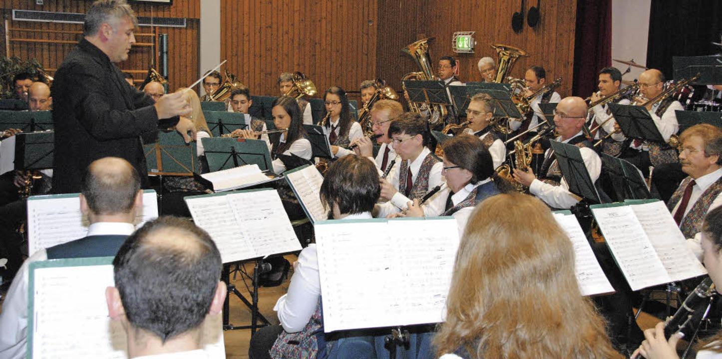 Der Musikverein  Egringen begeisterte das Publikum.     Foto: Norbert Sedlak