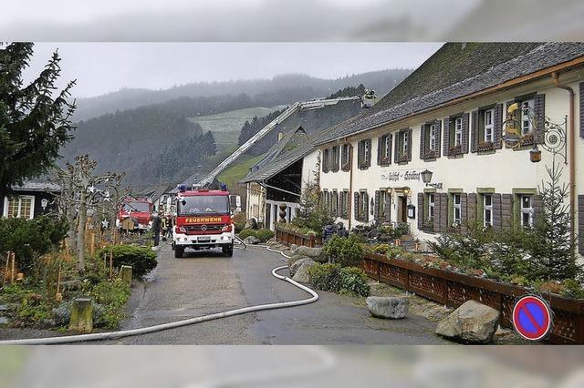 Unruhige Festtage für die Münstertäler Feuerwehr