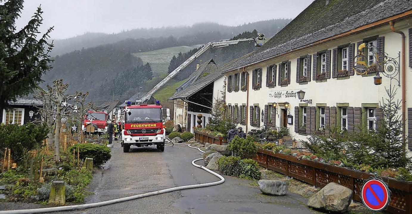 Einen Großeinsatz hatte die Feuerwehr ... nicht mehr eingesetzt werden musste.   | Foto: Feuerwehr Münstertal