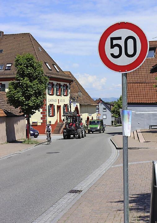 Tempo 50 ist  bald nicht mehr in Gottenheim erlaubt.   | Foto: Schöneberg