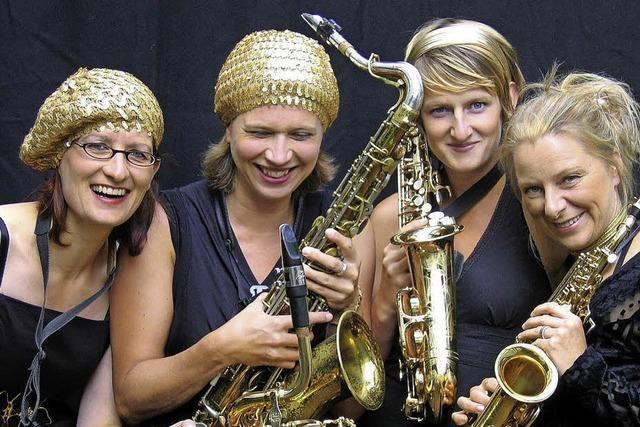 Das Saxophonquartett Sistergold gastiert in Tiengen