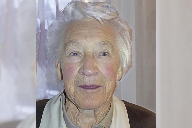 Hildegard Hügle wurde 90 Jahre